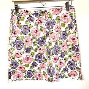 St. Aumont cute pastel rose print mini skirt